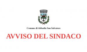 Importante: avviso alla cittadinanza del Sindaco (23/03/2020)